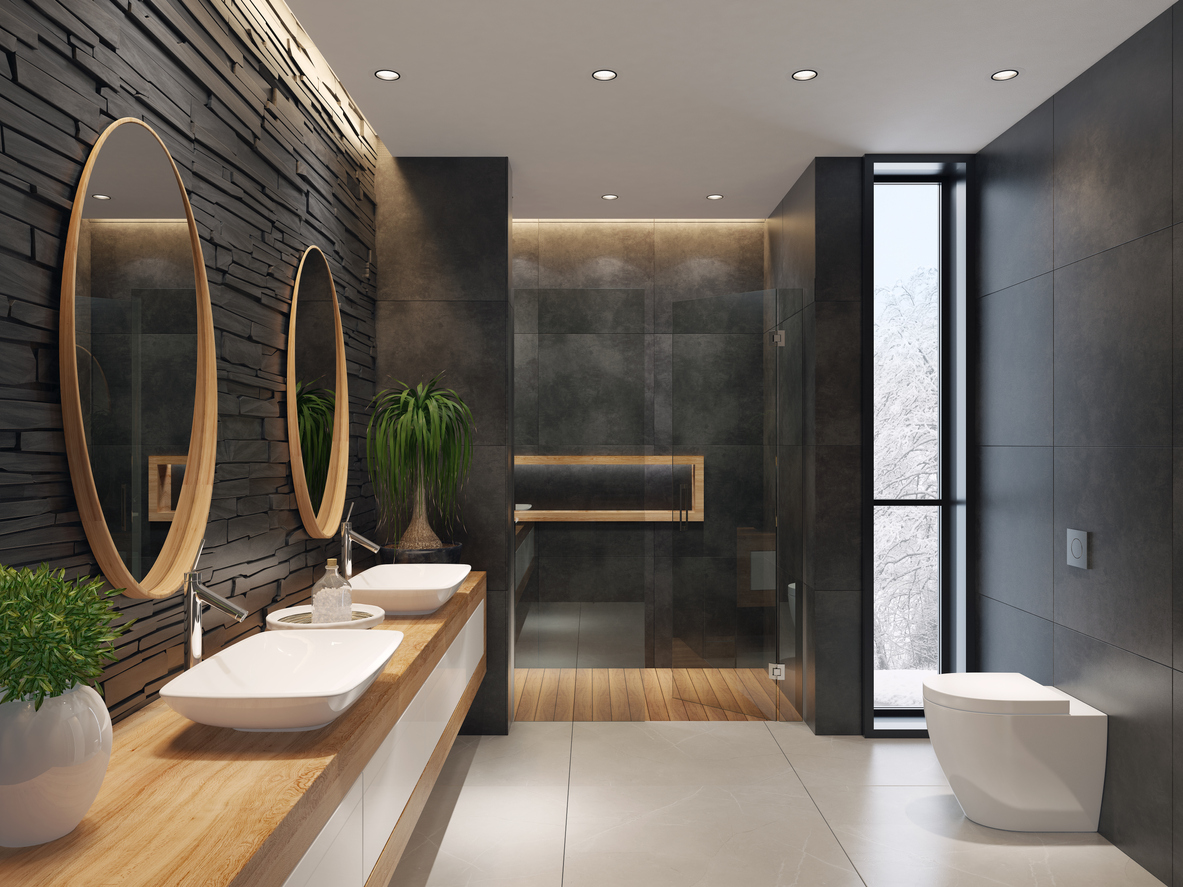 room containing contemporary bathroom trends